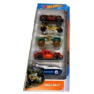 Hot Wheels Jungle Rally 5 cars NEW